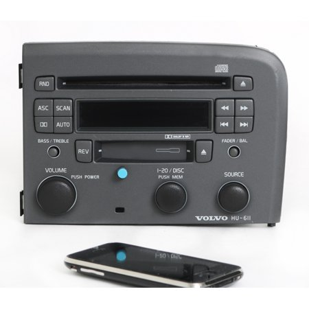 Volvo 80 Series 1999-04 Radio AM FM CD Cassette Bluetooth Music 8651146-1 HU-611 - - Volvo S60 Radio
