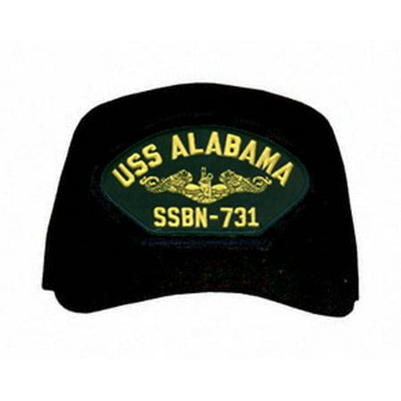 Uss Alabama Submarine (USS Alabama SSBN-731 ( Gold Dolphins ) Submarine Officers Cap)
