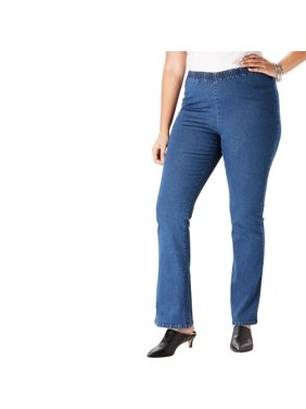 f855c4e75a4 Product Image Roaman s Denim 24 7 Plus Size Petite Bootcut Pull-on Stretch  Jean