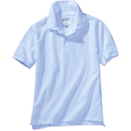 Faded Glory- Uniform Polo Ss Reg- Lt Blu