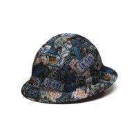 Full Brim Pyramex Hard Hat, US License Plates Design Safety Helmet 4pt, By Acerpal
