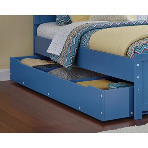 Ashley Bronilly Wood Trundle Storage Drawer in Blue