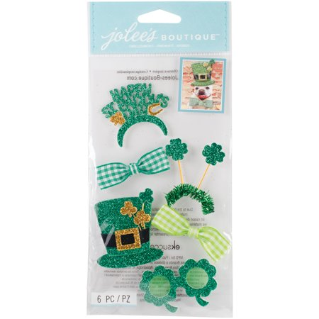 Jolee's Boutique Dimensional Stickers-St. Patrick's Day Dress Up - St Patrick's Day Dress