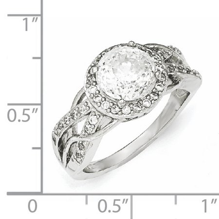 Cheryl M Sterling Silver CZ 100-Facet Fancy Ring Size 8 - image 2 of 3