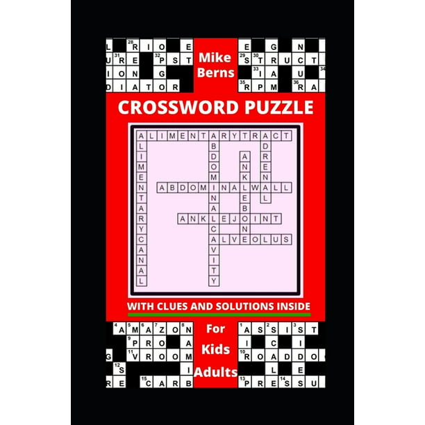 Crossword Puzzle With Clues And Solutions Inside For Kids And Adults Walmart Com Walmart Com