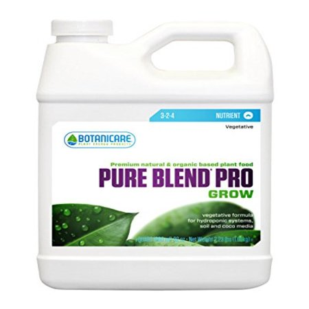 Botanicare PURE BLEND PRO Grow Soil Nutrient 3-2-4 Formula,