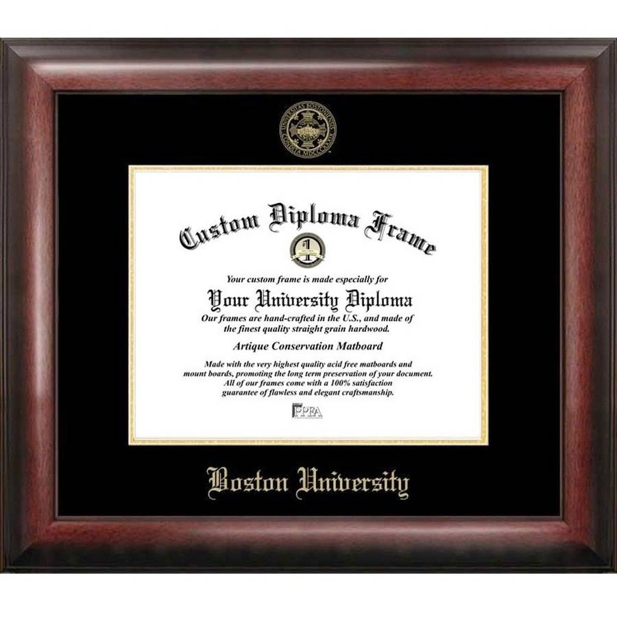 "Boston University 11"" x 14"" Gold Embossed Diploma Frame"
