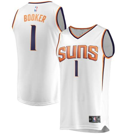 premium selection f886d e67eb Devin Booker Phoenix Suns Fanatics Branded Fast Break Replica Jersey White  - Association Edition