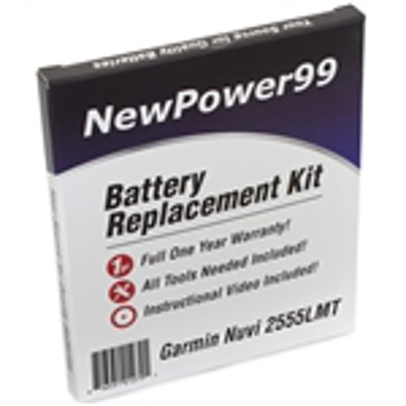 Garmin Nuvi 2555LMT Battery Replacement Kit with Tools, Video Instructions, Extended Life Battery and Full One Year Warranty](garmin nuvi 1490 battery)