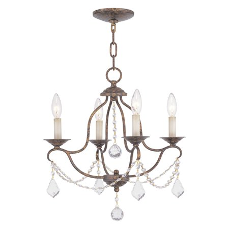 Livex Lighting Chesterfield 4 Light Mini Chandelier Collection Four Light Mini Chandelier