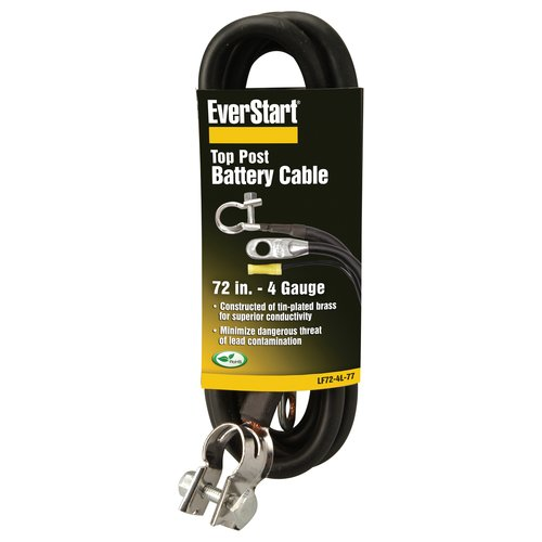 Everstart LF72-4L-77 4-Gauge Top Post Battery Cable, 72-Inches