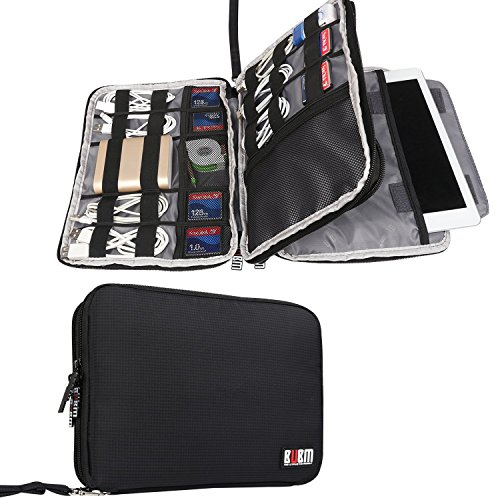 BUBM Travel Cable Organizer, Double Layer Electronic Accessories Organizer Case for Cord, Flash Hard Drive,... by Cable Matters