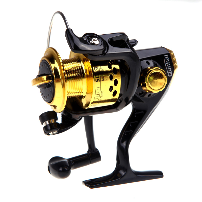 6BB Ball Bearings Left/Right Interchangeable Collapsible Handle Fishing Spinning Reel SG3000 5.1:1 Black