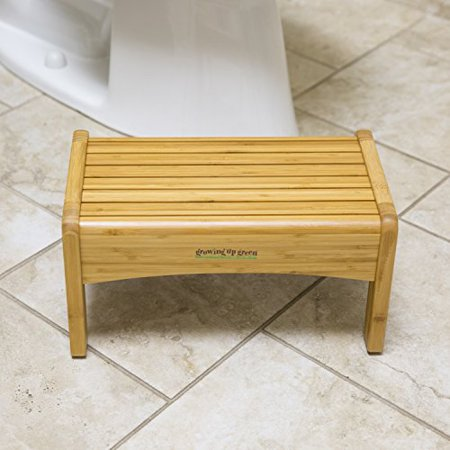 Growing Up Green Wood Step Stool Durable Non Slip