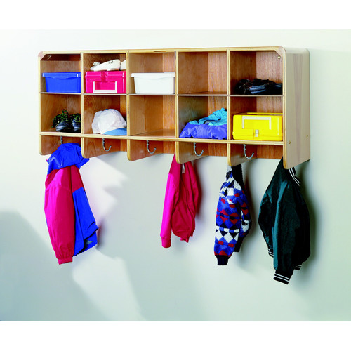 Korners for Kids 10-Section Wall-Mounted Coat Locker