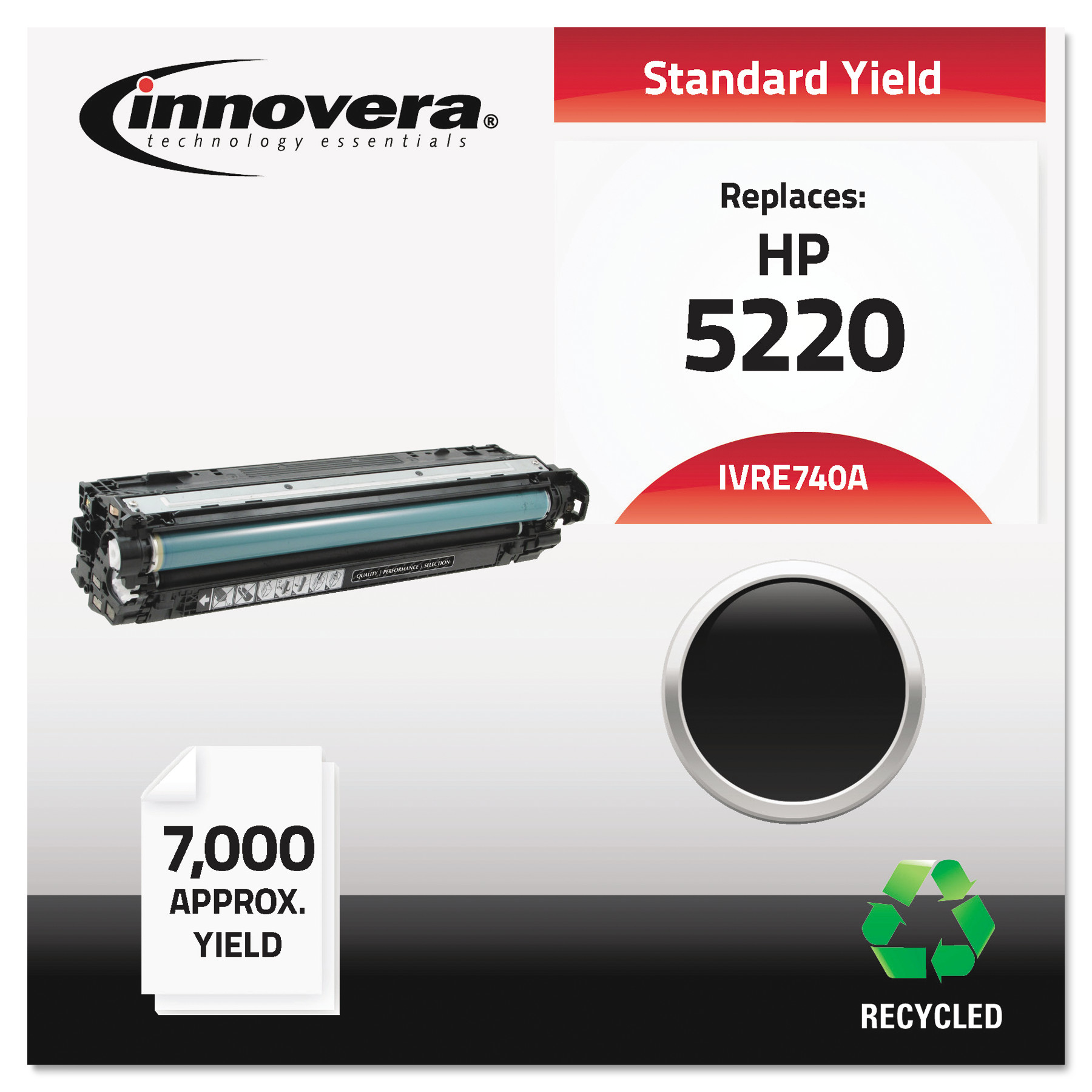 Innovera Remanufactured CE740A (307A) Toner, Black