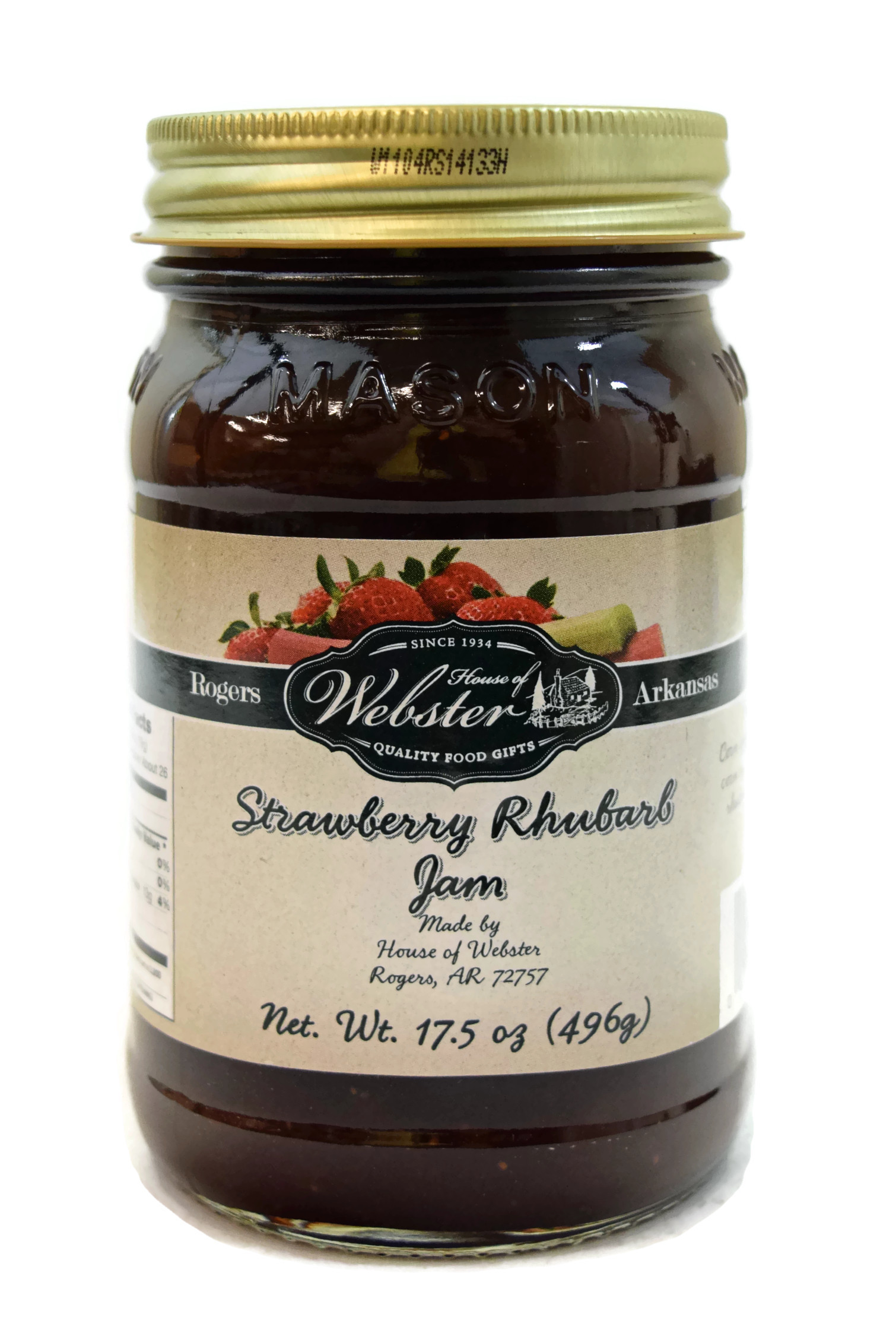House of Webster Strawberry Rhubarb Jam 17.5 oz by House of Webster