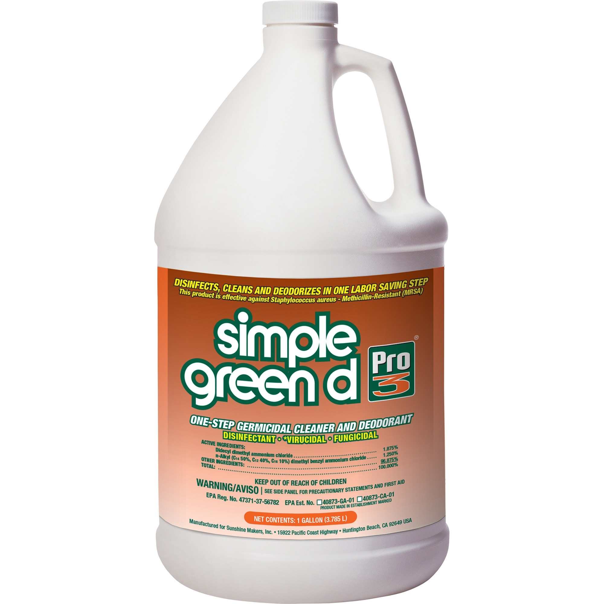 Simple Green, SMP30301, 1-Step Germicidal Cleaner/Deodorant, 1 Each, Green
