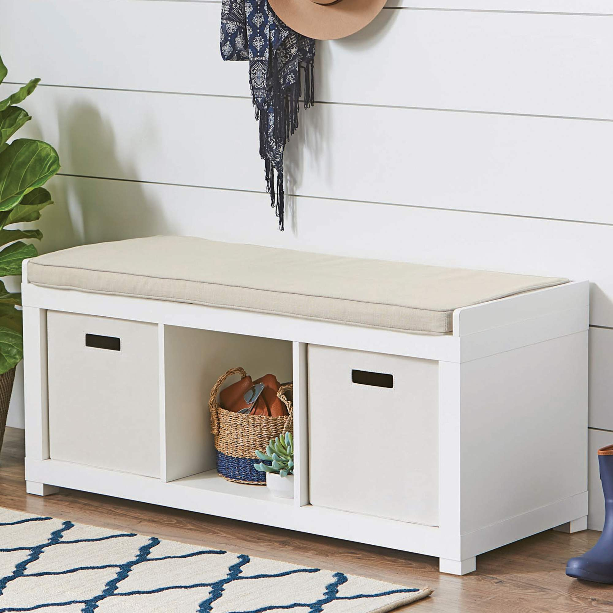 Delicieux Better Homes And Gardens 3 Cube Organizer Storage Bench, Multiple Finishes    Walmart.com