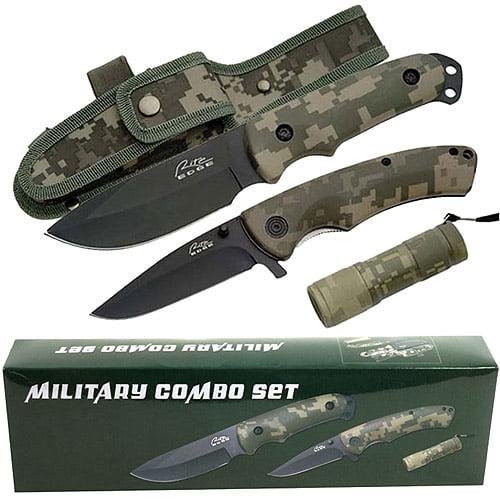 Rite Edge Stainless Steel Military Combo Set