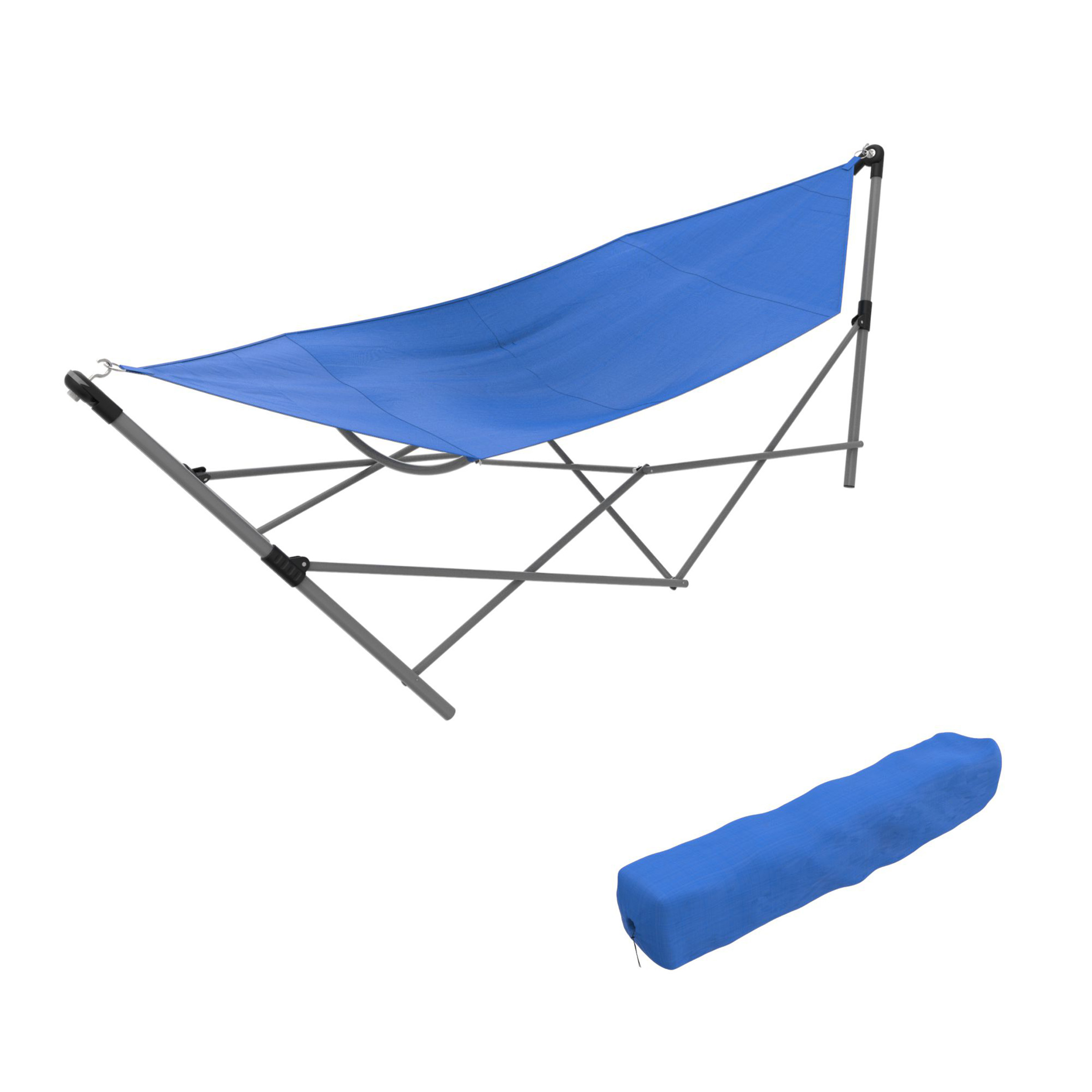 Portable Hammock with Stand-Folds and Fits into Included Carry Bag by Pure Garden -Black by Trademark Global LLC