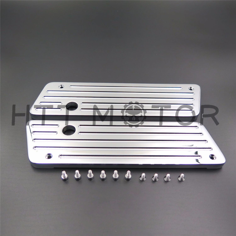 Chrome Aluminum CNC Hard Saddlebag Latch Cover For Harley 1993-2013 Touring FLHT