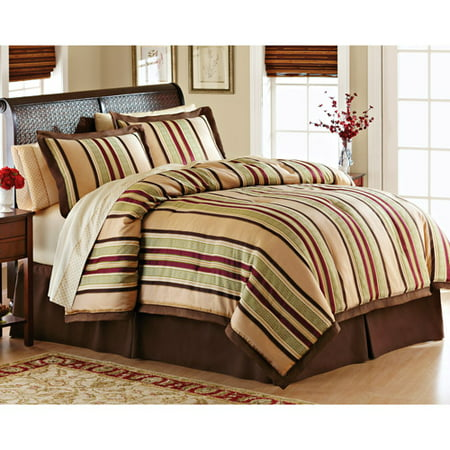 Better homes and gardens foulard stripe bed in a bag for Better homes and gardens bed in a bag