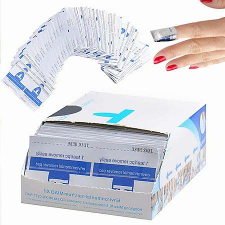 Nail Polish Remover, 200 Pcs UV Glitter Gel Nail Varnish Remover Pads Acrylic Nail Polish Remover Wipes Shellac Nail Polish Remover with Acetone