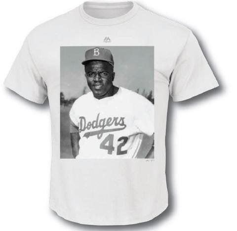 Majestic Jackie Robinson Brooklyn Dodgers MLB Men's Iconi...