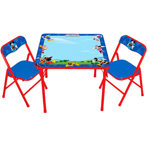 Disney - Mickey Mouse Club House Erasable Activity Table Set with 3 Markers
