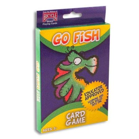 Go Ped Deck (1 Deck Go Fish Kids Playing Cards Game Children Big Box Oversized Cards )
