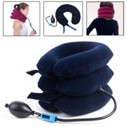 Air Inflatable U-shape Pillow Cervical Device Neck Pain Traction Support Brace For Back Head & Shoulder Stress Relief