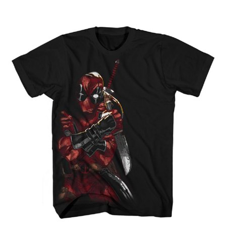 Deadpool Merculese Marvel Comics Officially Licensed Adult T-Shirt (Lady Deadpool Comics)