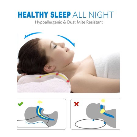 B16080004-03 Natural Bed Pillow for Neck Back Shoulder Support Relief Pain