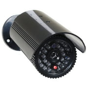 VideoSecu Bullet Dummy Surveillance Security Camera Fake IR LED Light with Blinking Flashing Red Activity LED Indoor 1PX
