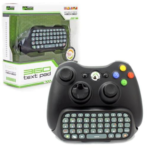 Text Pad QWERTY Keyboard For Microsoft Xbox 360 Controller Black