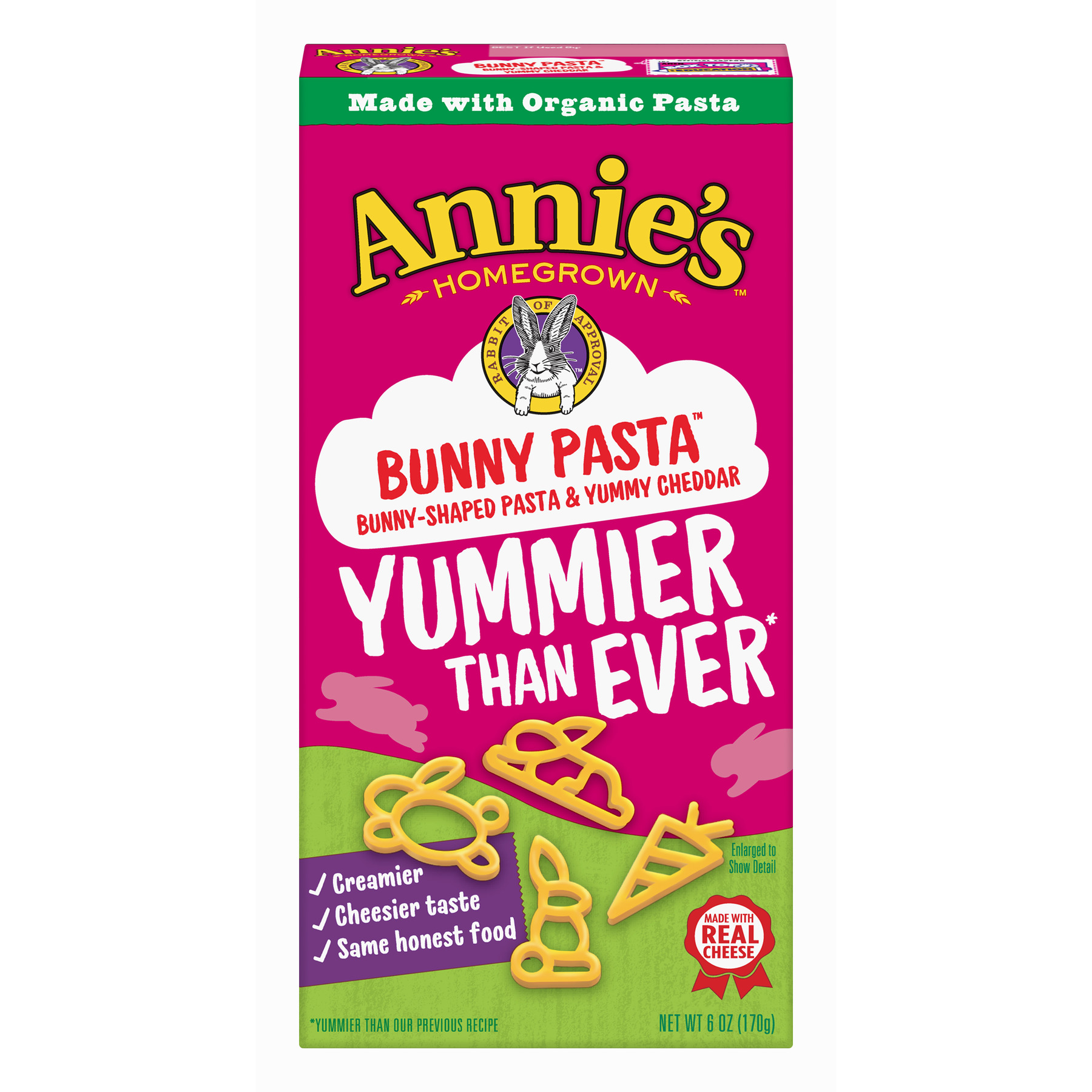 Annie's Bunny Pasta With Yummy Cheese Macaroni and Cheese, 6 oz Box