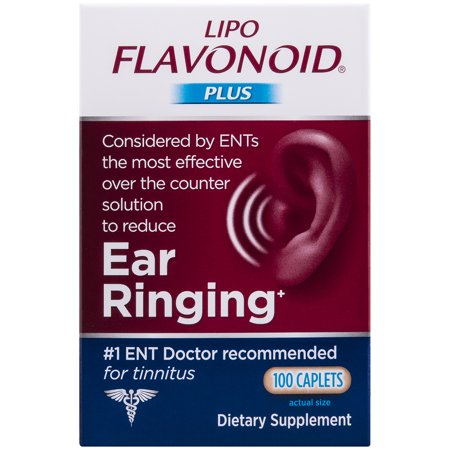 Lipo-Flavonoid Plus Ear Health Supplement Most Effective Over the Counter Solution to Reduce Ear Ringing #1 Ear, Nose, & Throat Doctor Recommended for Tinnitus, 100 Caplets