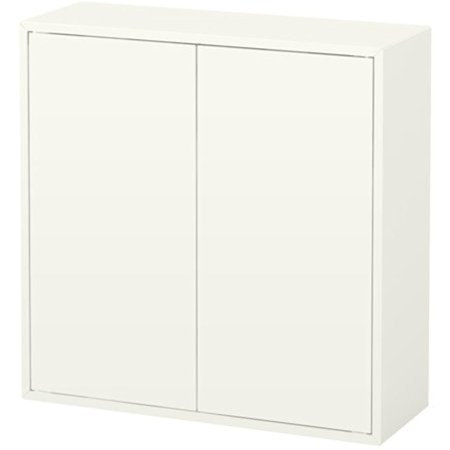 IKEA Cabinet with door and 2 shelves, white