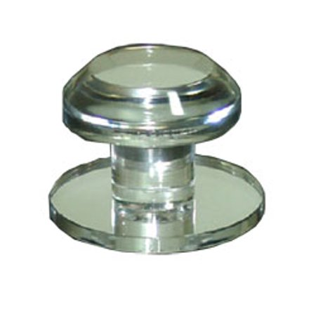Clear Acrylic Stick-On Beveled Face Mirror Round Knob