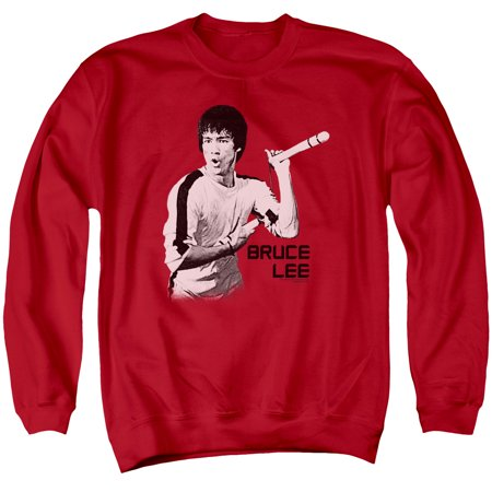Bruce Lee Martial Arts Nunchucks Adult Crewneck Sweatshirt