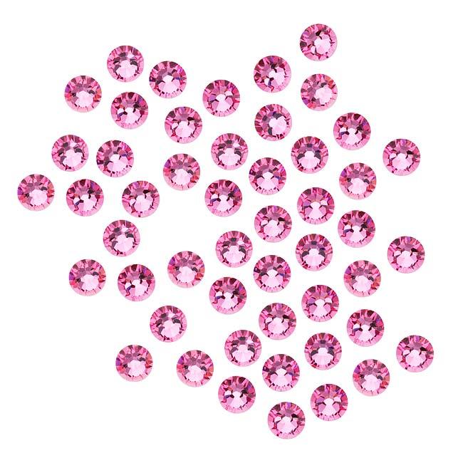 Swarovski Crystal, Round Flatback Rhinestone SS16 3.8mm, 50 Pieces, Rose