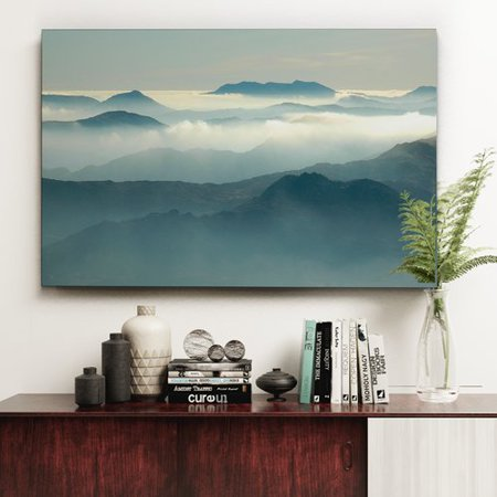 Loon Peak Above The Clouds Oil Painting Print On Wrapped Canvas