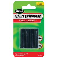 Slime 2047-A Tire Valve Extender, Plastic, For Duallys and Hard-to-Reach Valve Stems, 4 6 Pack