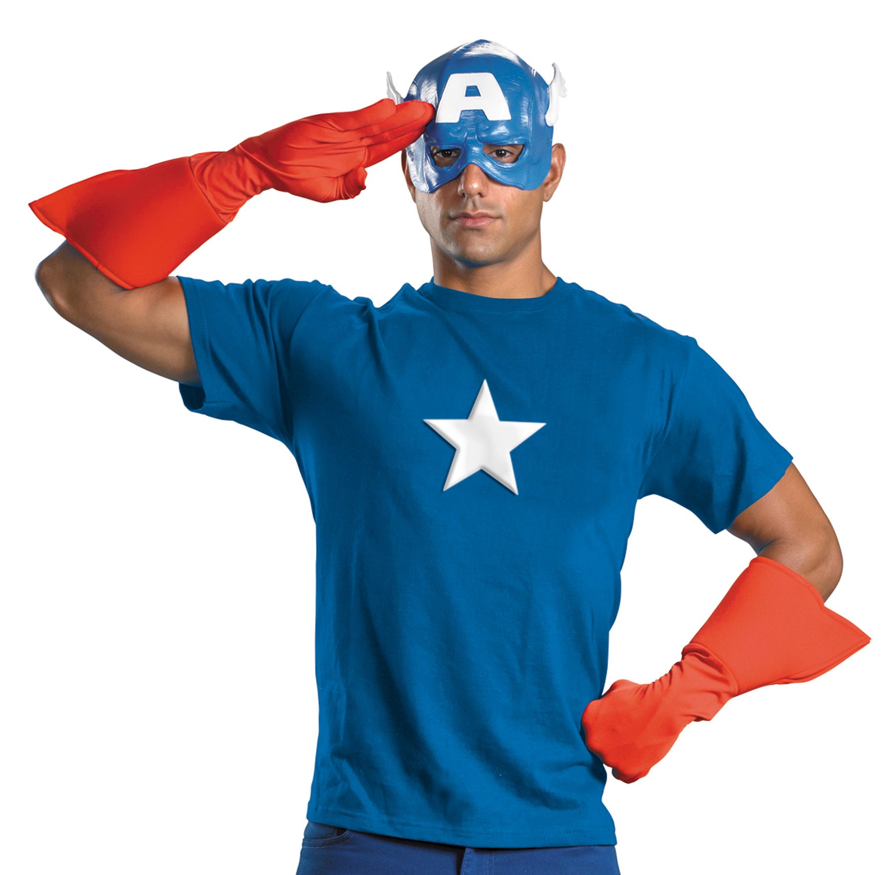 Captain America Adult Halloween Costume - One Size
