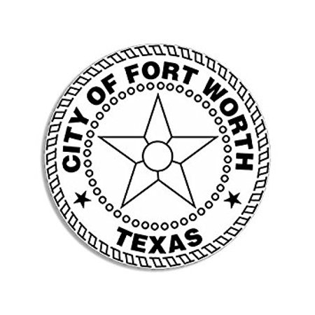 Fort Worth Texas City Seal Sticker Decal (decal logo tx historic usa state) Size: 4 x 4 (Shark Speciality Tools Co Fort Worth Tx)