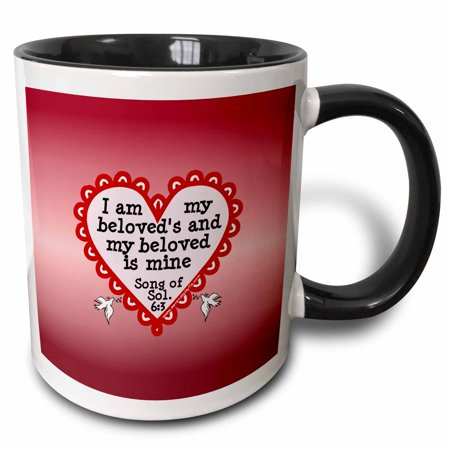 Song Of Solomon 3 (3dRose Song of Solomon 6 3 on Red - Two Tone Black Mug,)