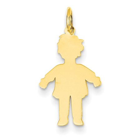 Roy Rose Jewelry 14K Yellow Gold Plain Polished Small Boy Charm