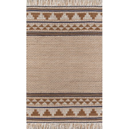 Momeni Esme Wool and Jute Hand Woven Ivory Area Rug 2' X -