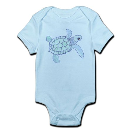 CafePress - Infant Bodysuit: Baby Sea Turtle - Baby Light - Sea Babies